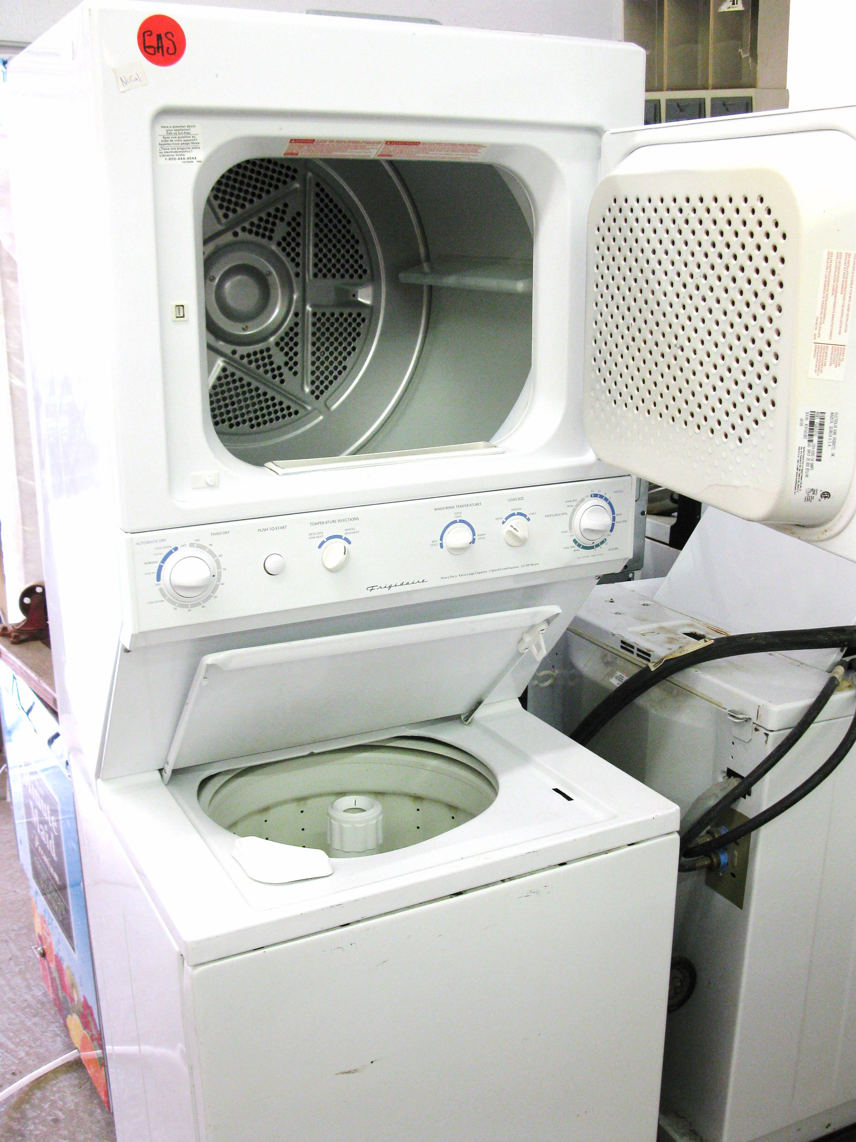 Used Frigidaire Stacked Washer Amp Gas Dryer System